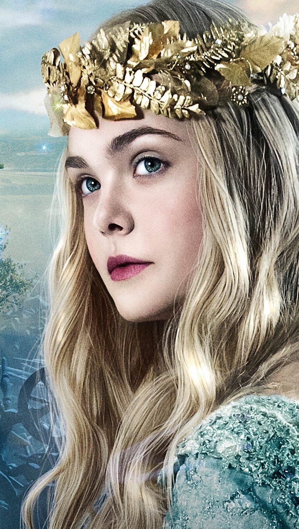 Wallpaper Elle Fanning as Princess Aurora Vertical
