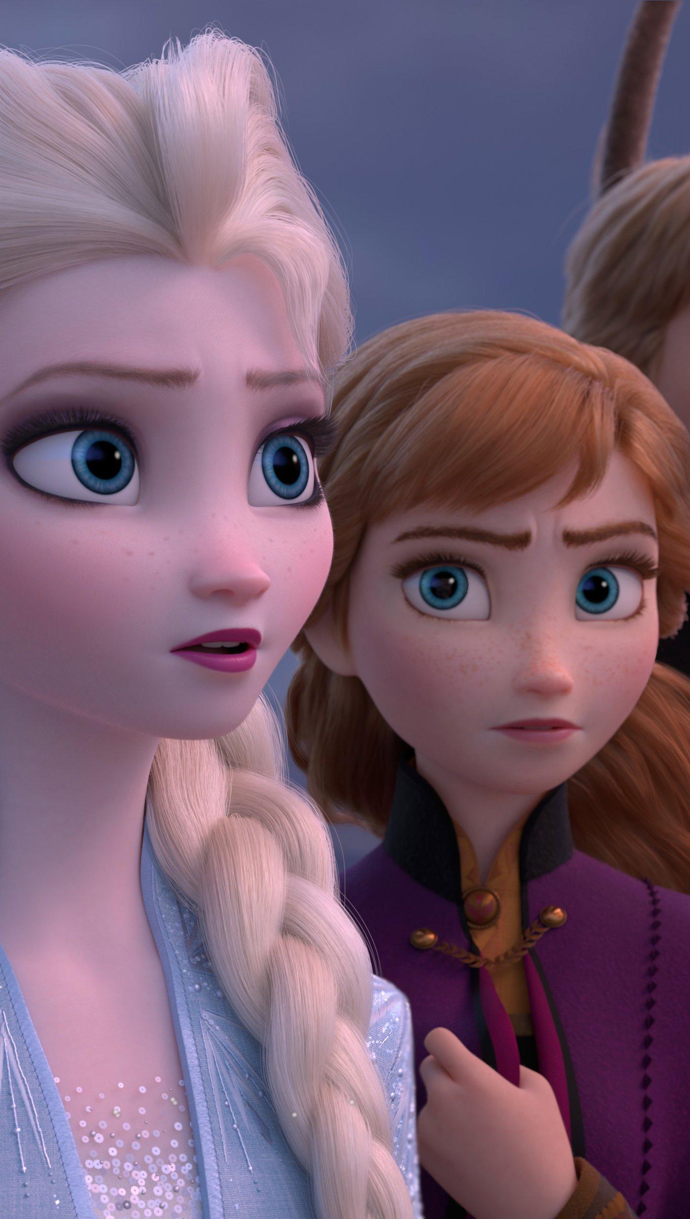 Fondos de pantalla Elsa, Anna y Kristoff de Frozen 2 Vertical