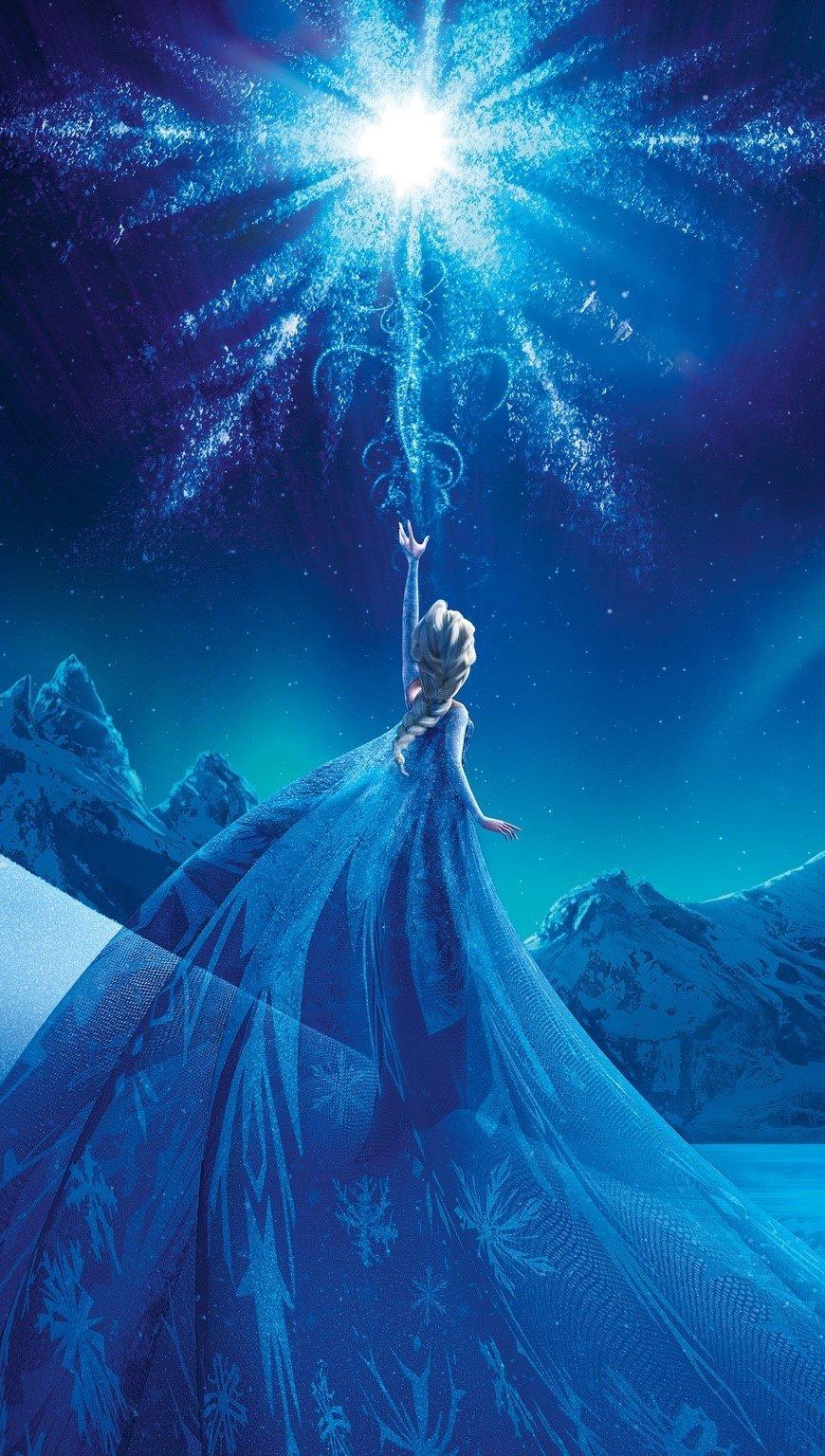 Wallpaper Elsa Queen of ice Vertical
