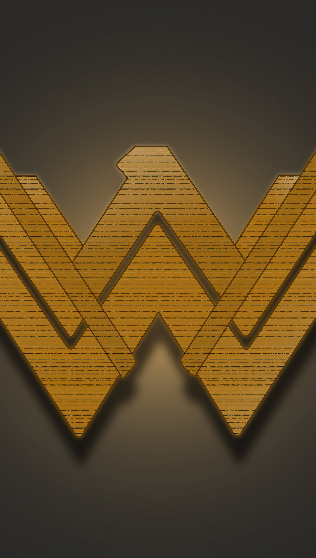 Wallpaper Wonder Woman Emblem Vertical