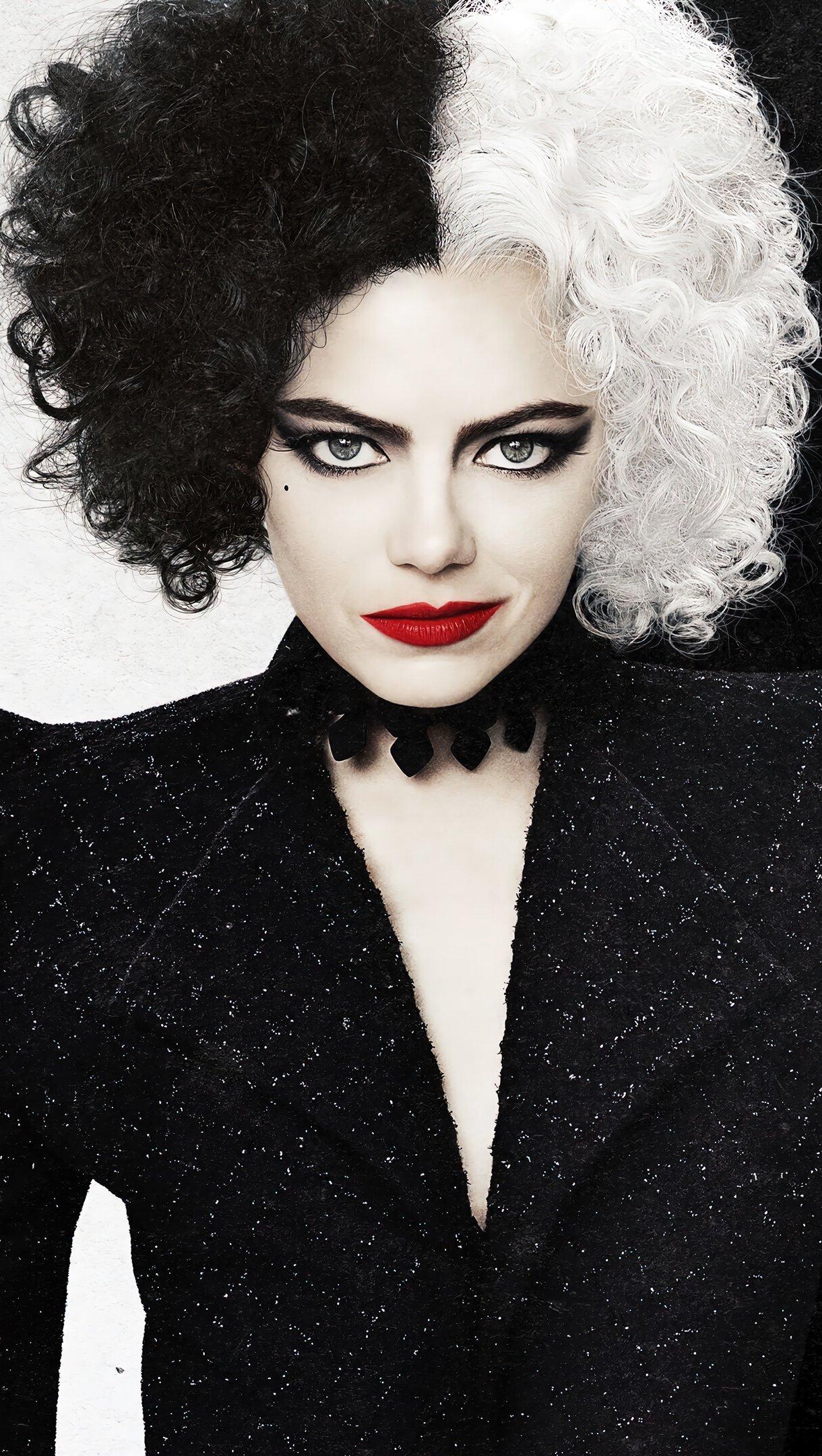 Fondos de pantalla Emma Stone como Cruella Vertical