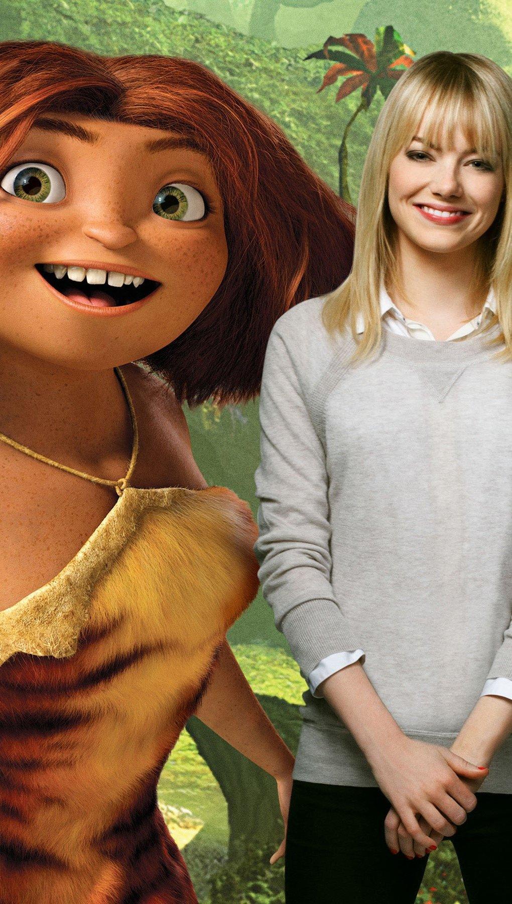 Fondos de pantalla Emma Stone como Eep Vertical