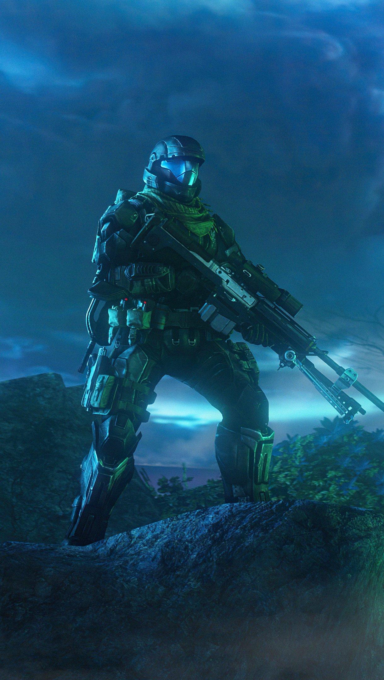 Fondos de pantalla Escena con neblina Halo Vertical