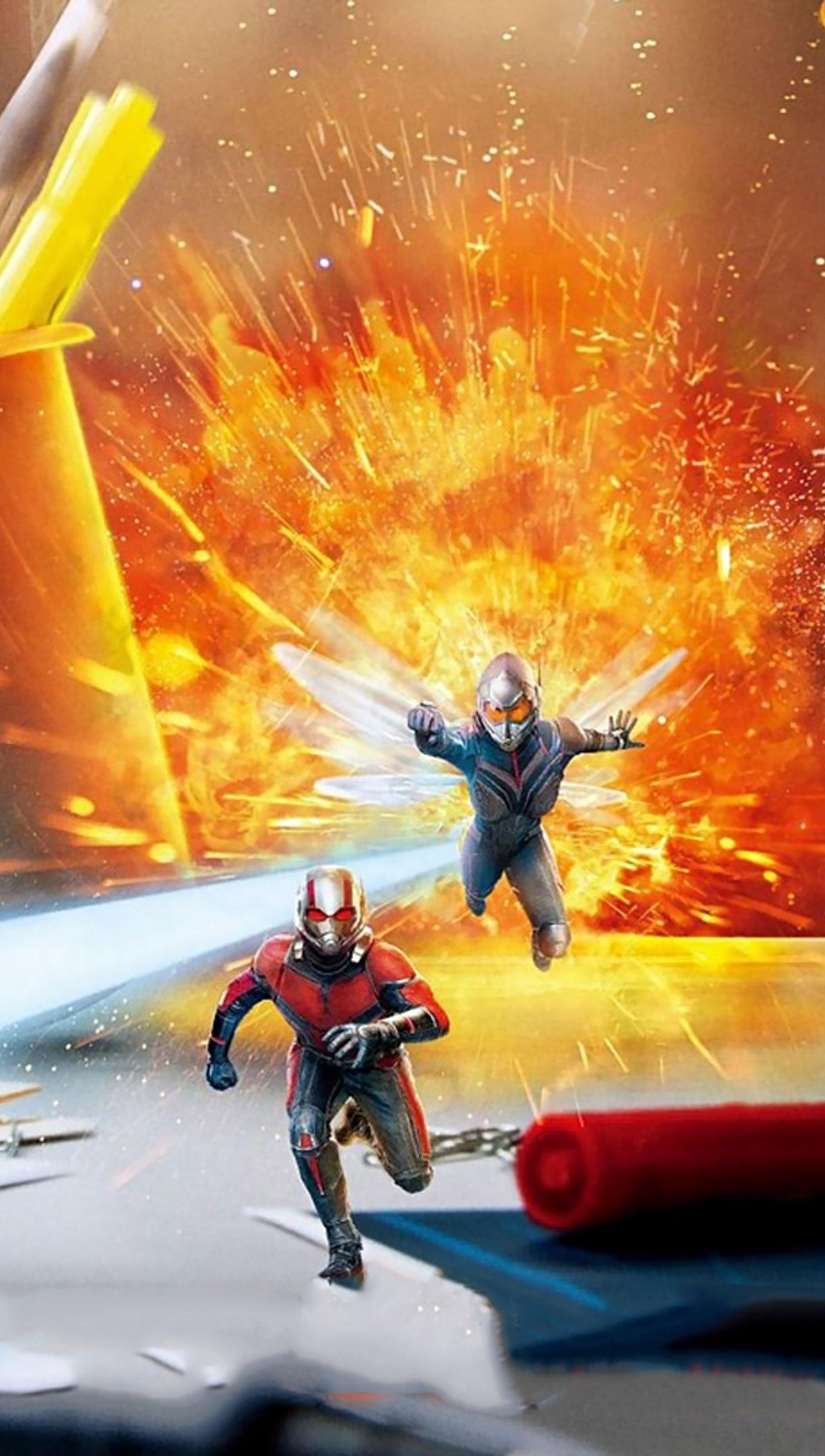 Fondos de pantalla Escena de Ant Man y la avispa Vertical