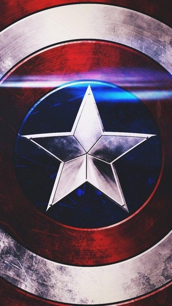 Wallpaper Captain America Shield Vertical
