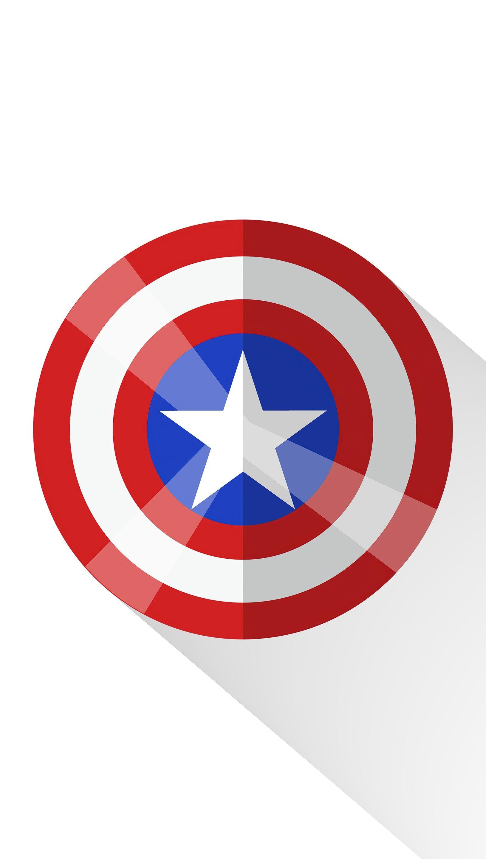 Fondos de pantalla Escudo del Capitán America Minimalista Vertical