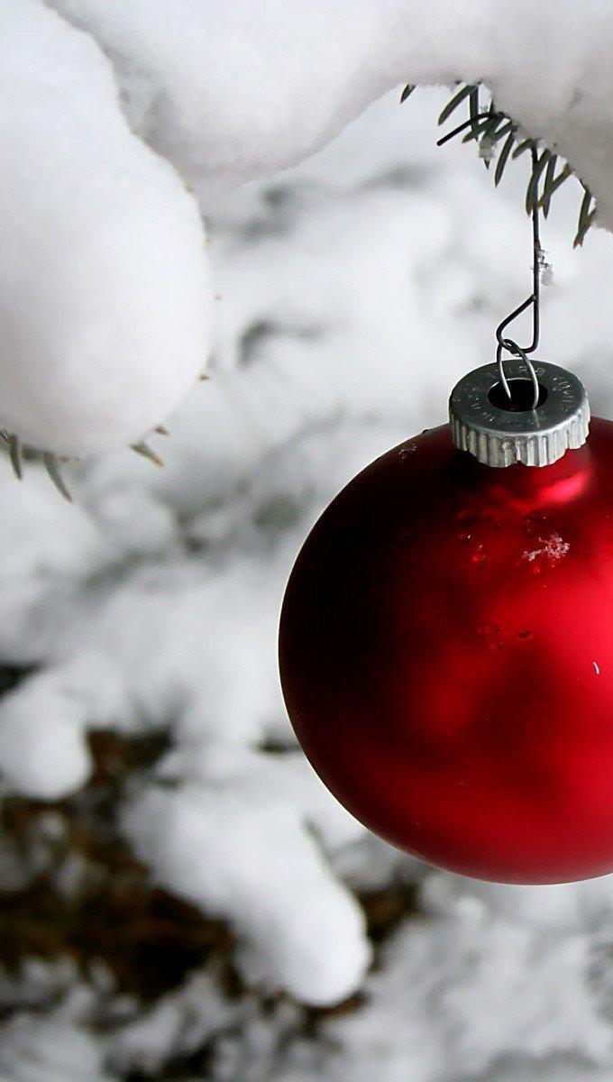 Fondos de pantalla Esfera en nieve Vertical