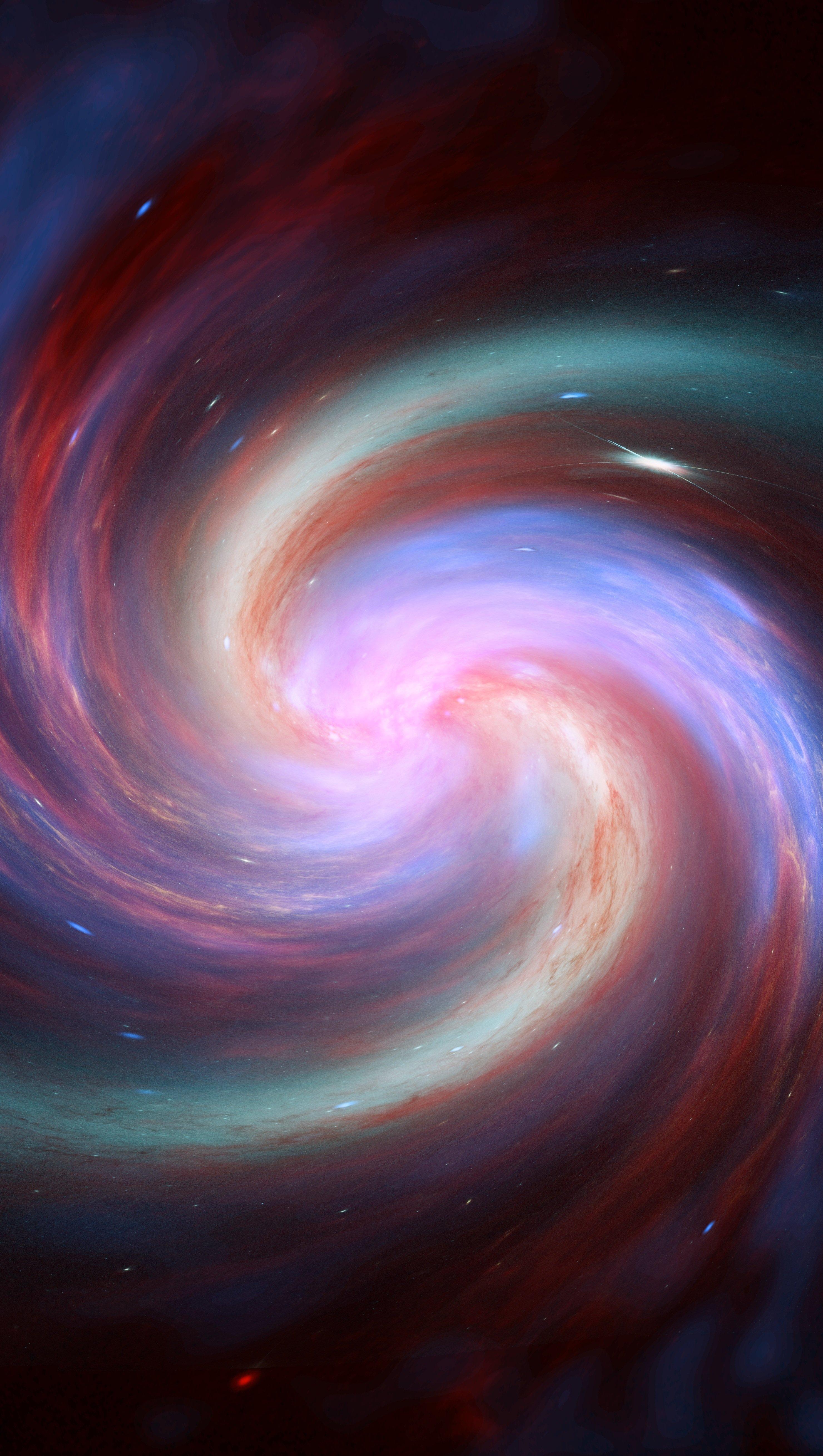 Wallpaper Galaxy spiral Vertical