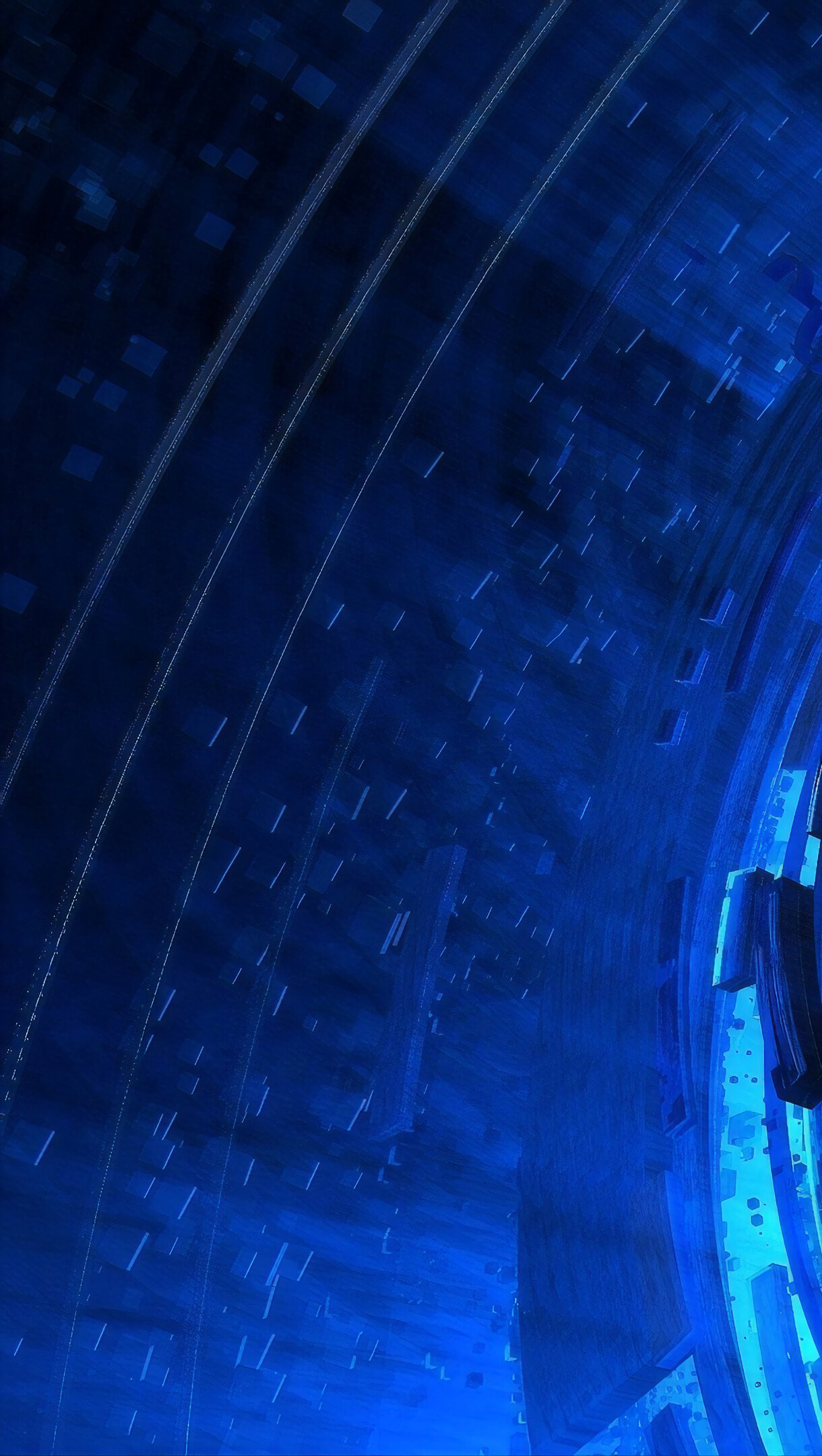 Fondos de pantalla Espiral tecnológico Vertical