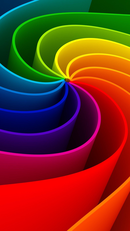 Fondos de pantalla Espirales 3d de colores Vertical
