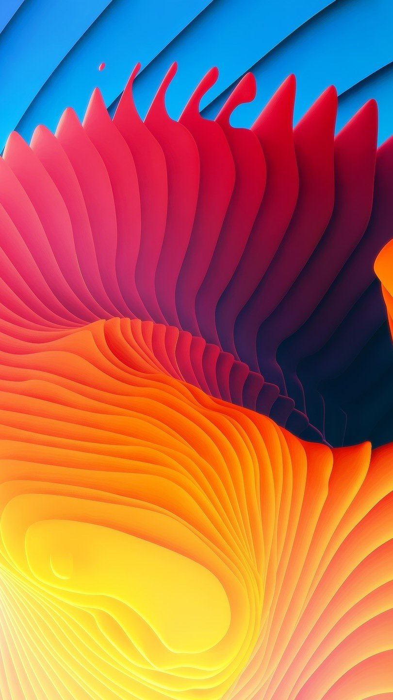 Fondos de pantalla Espirales de colores Vertical