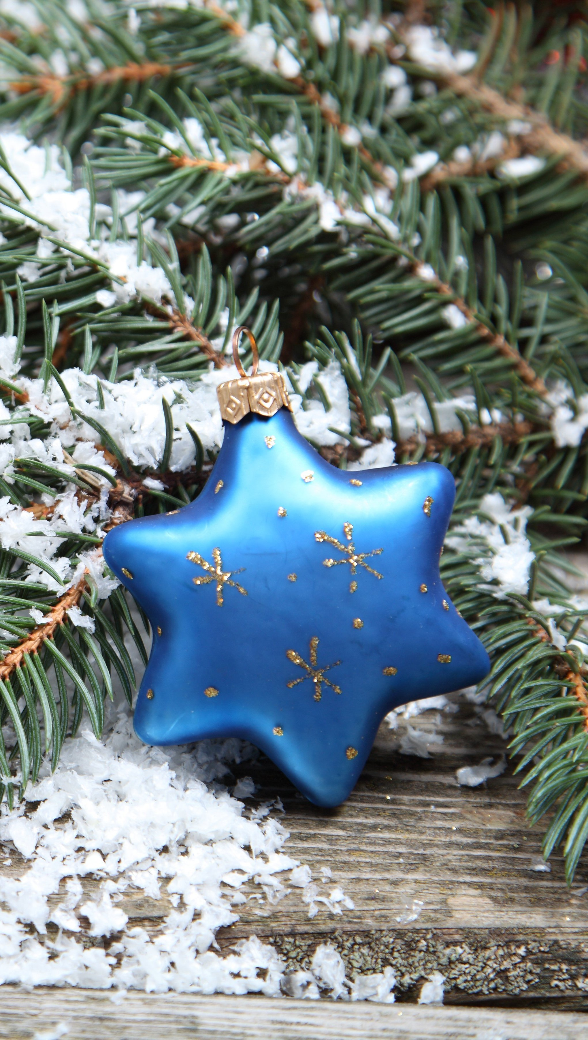 Wallpaper Christmas Decorative Star Vertical