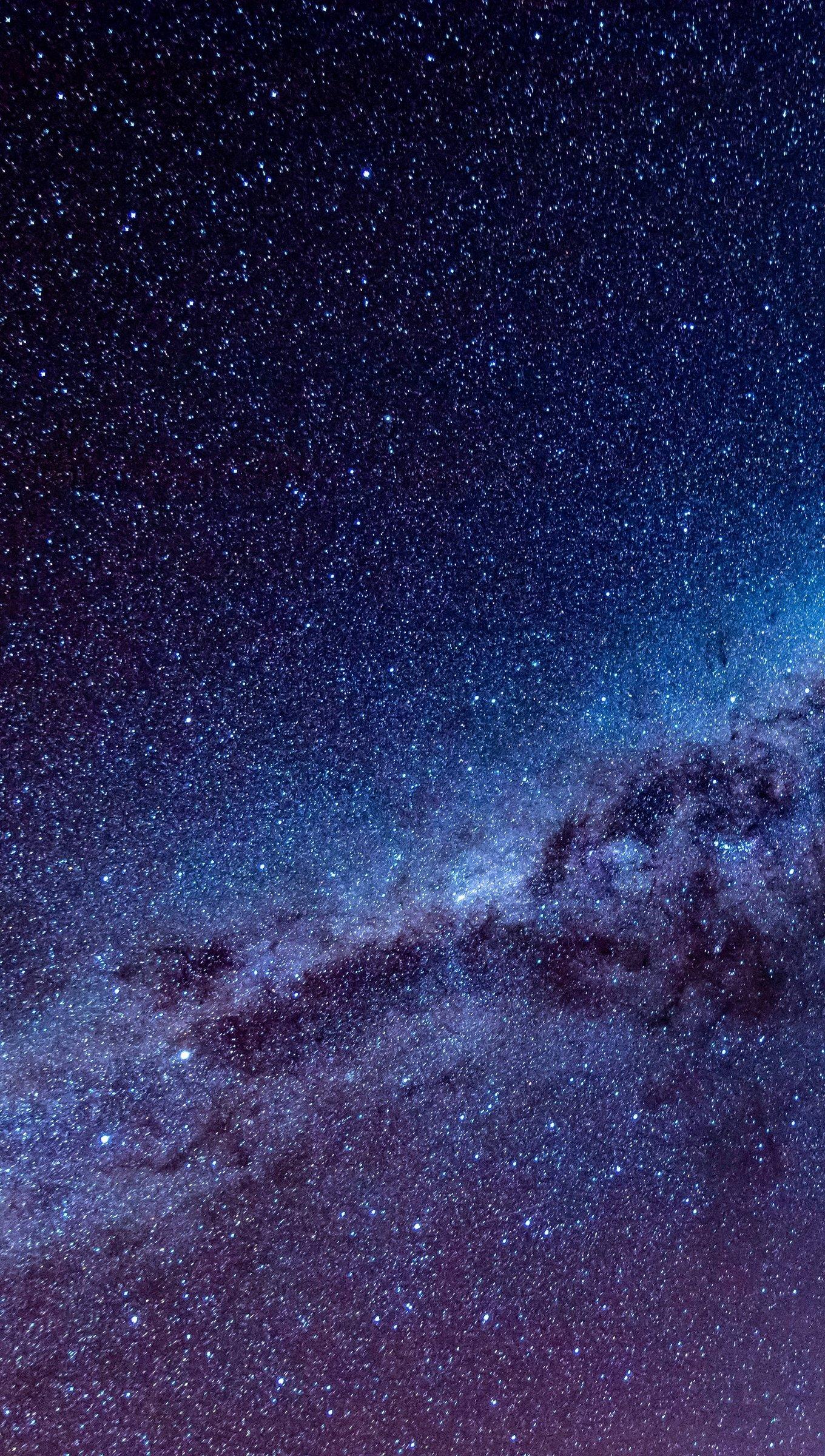 Fondos de pantalla Estrellas de la Vía láctea Vertical