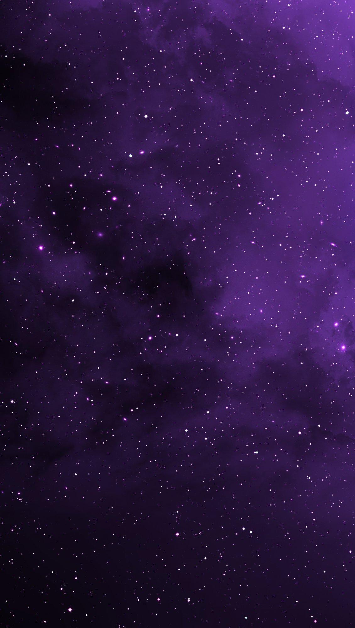 Fondos de pantalla Estrellas en el universo morado Vertical