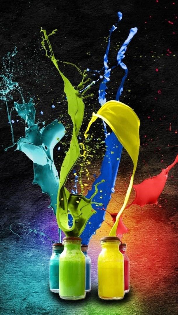 Wallpaper Color explosion Vertical