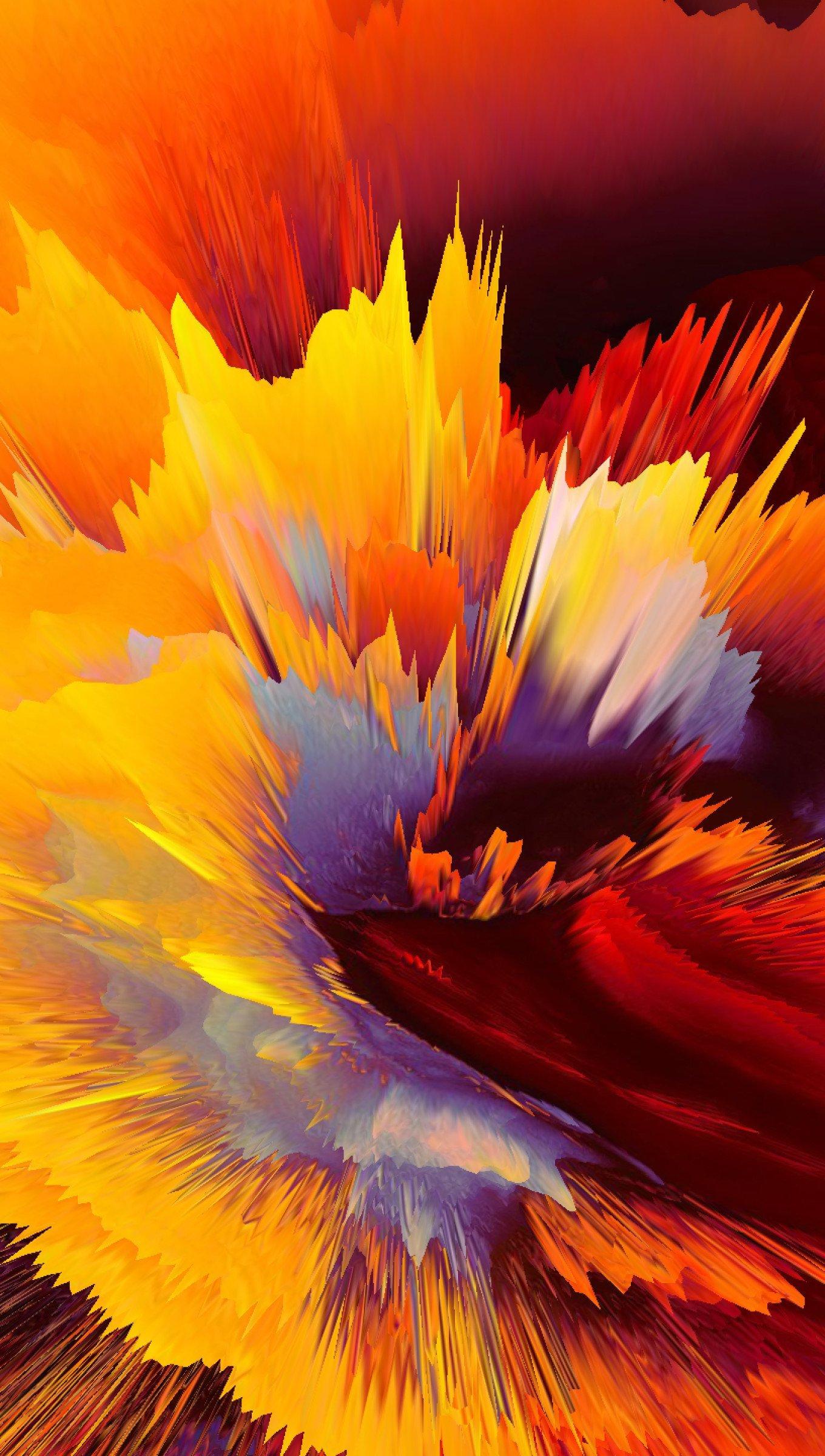 Fondos de pantalla Explosión de colores abstracta Vertical