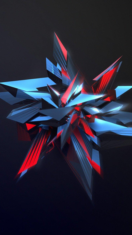 Fondos de pantalla Explosión poligonal Vertical
