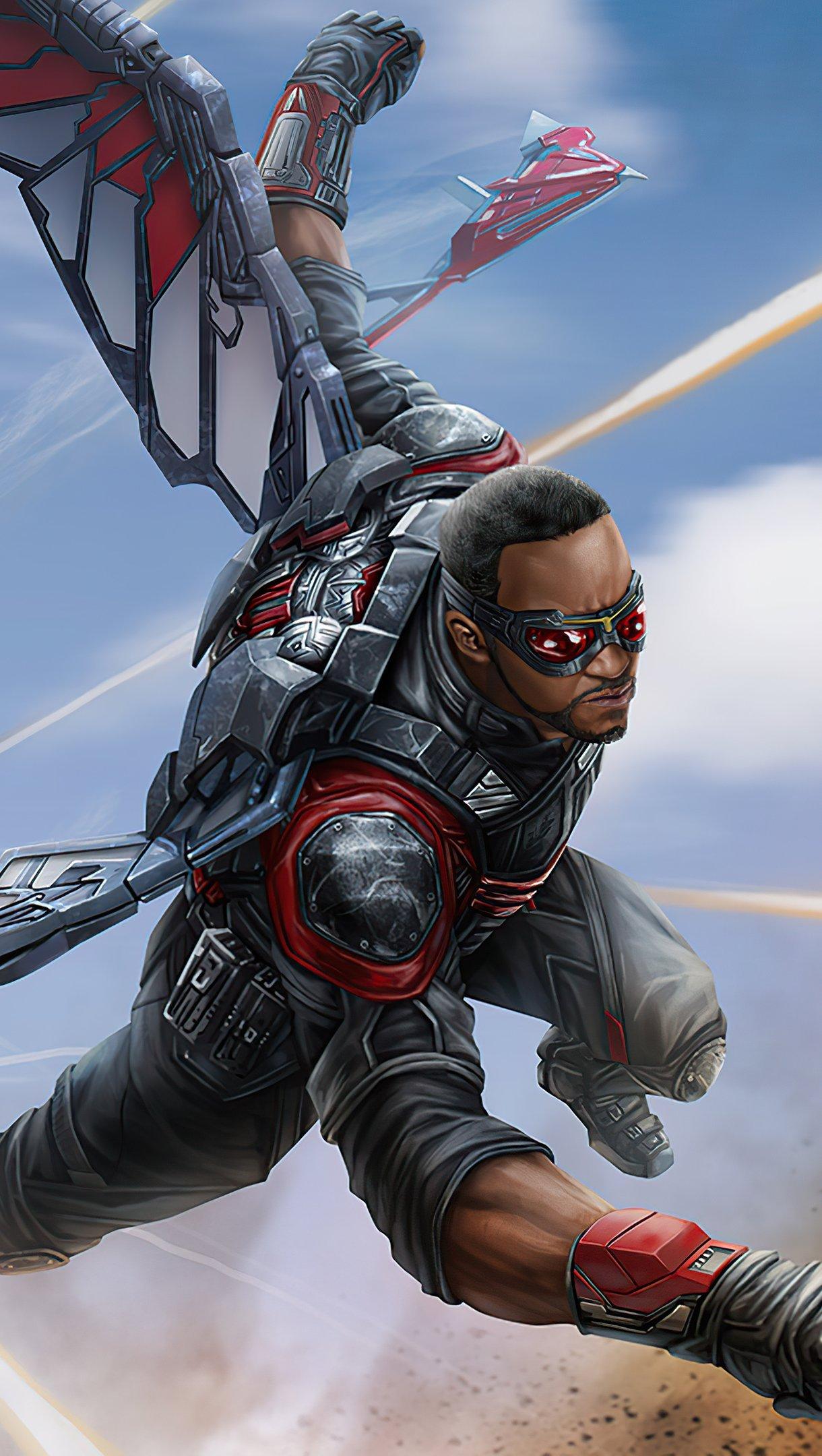 Fondos de pantalla Falcon Avengers Infinity War Vertical