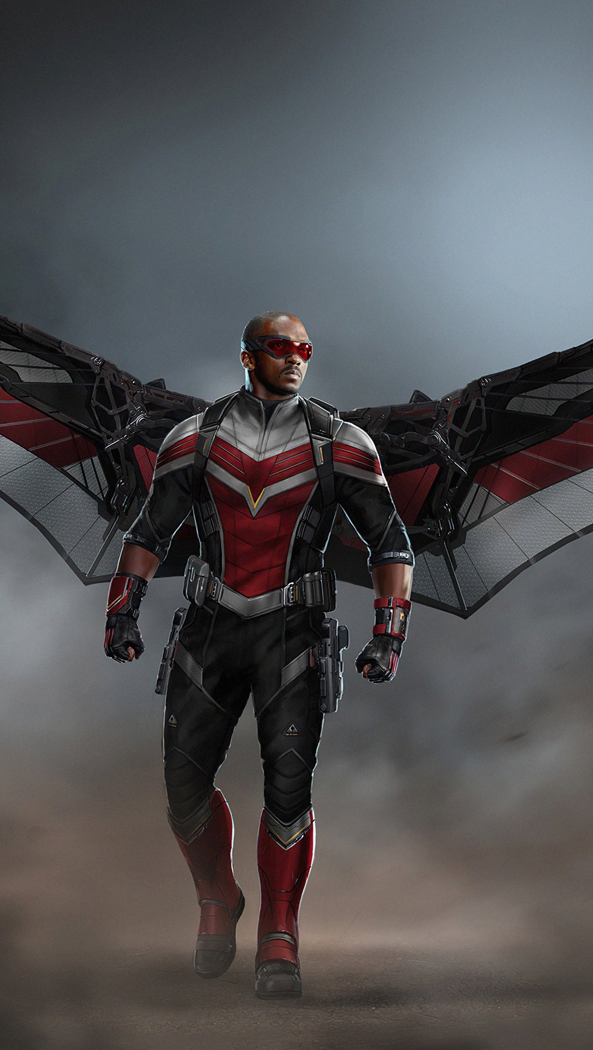 Wallpaper Falcon with wings Vertical