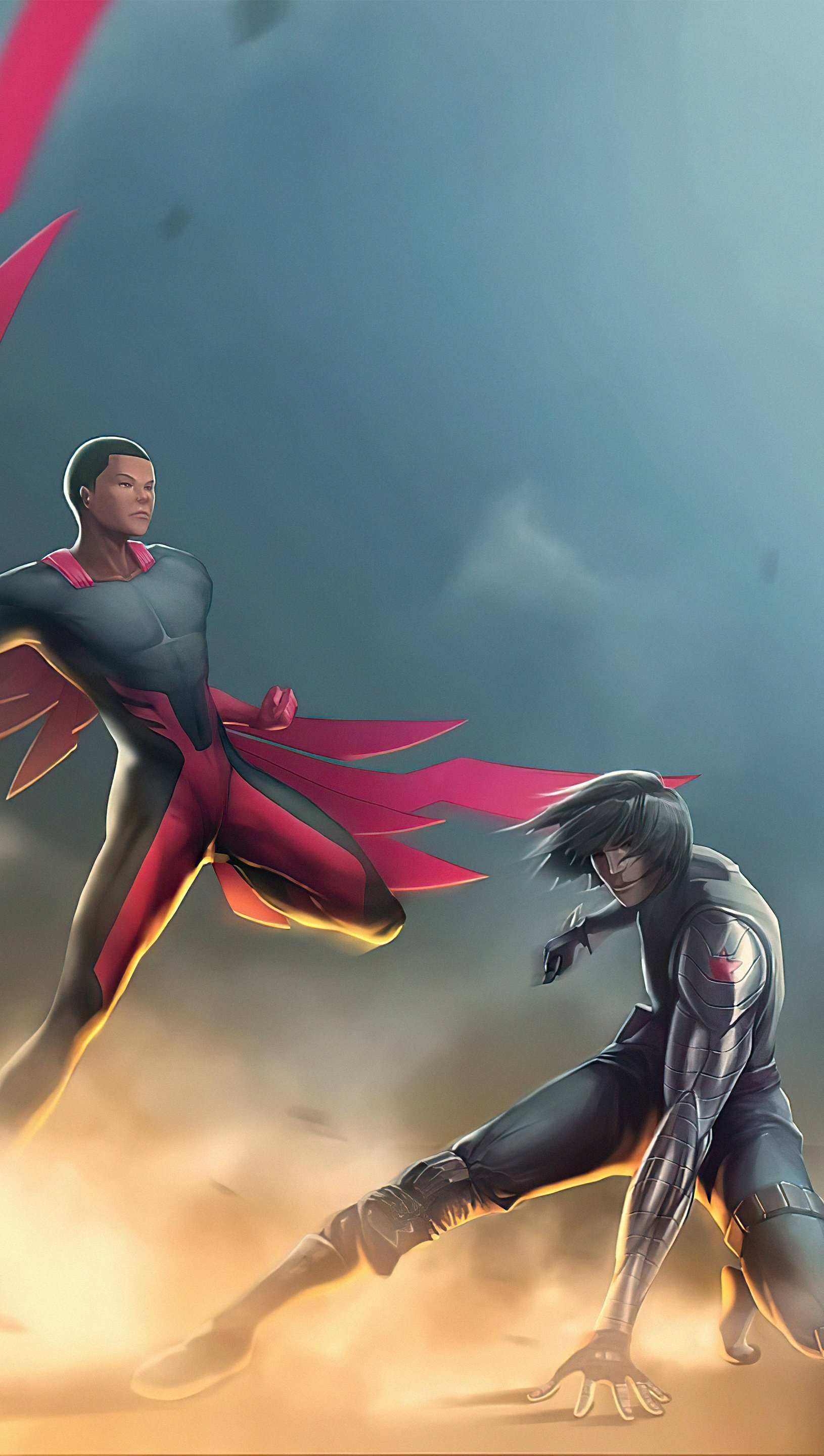 Wallpaper Falcon and the winter soldier Vertical