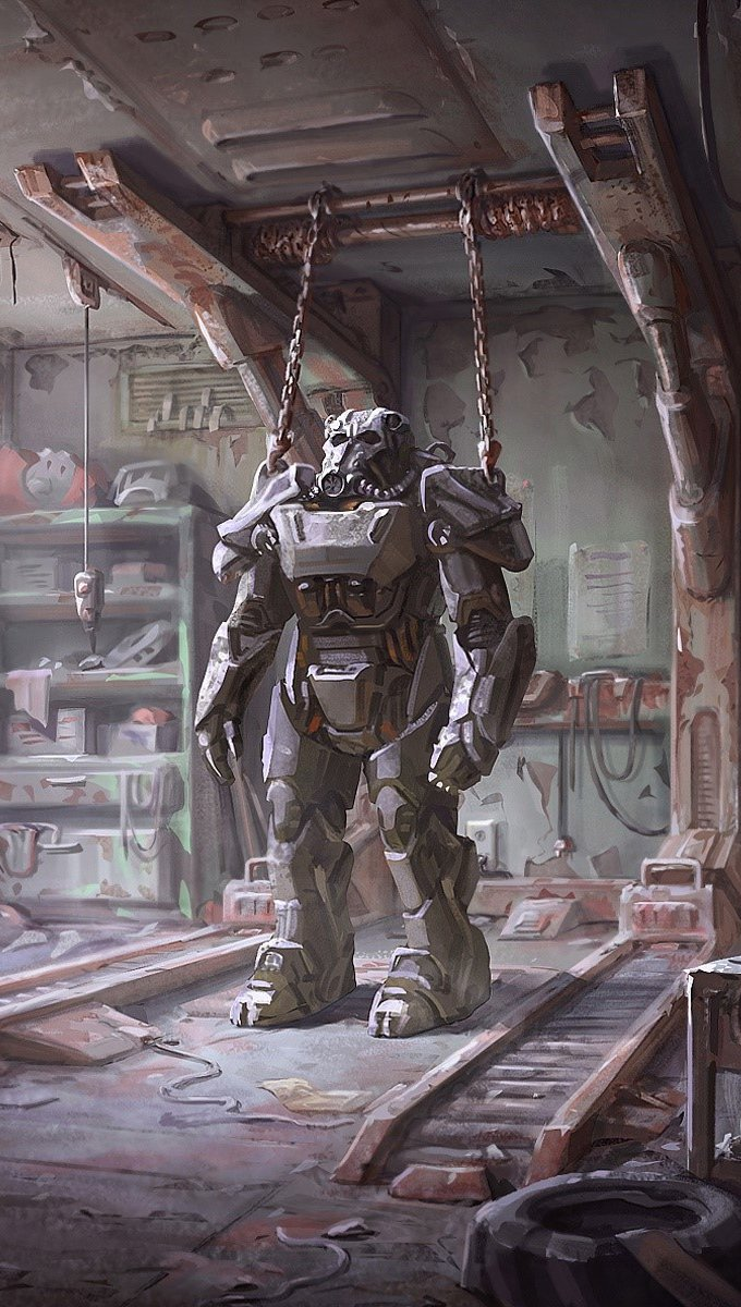 Wallpaper Fallout 4 Armor Vertical