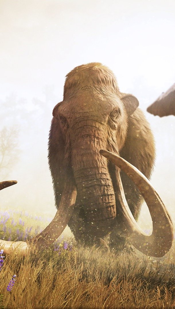 Fondos de pantalla Far Cry Primal Mammoth Hunt Vertical