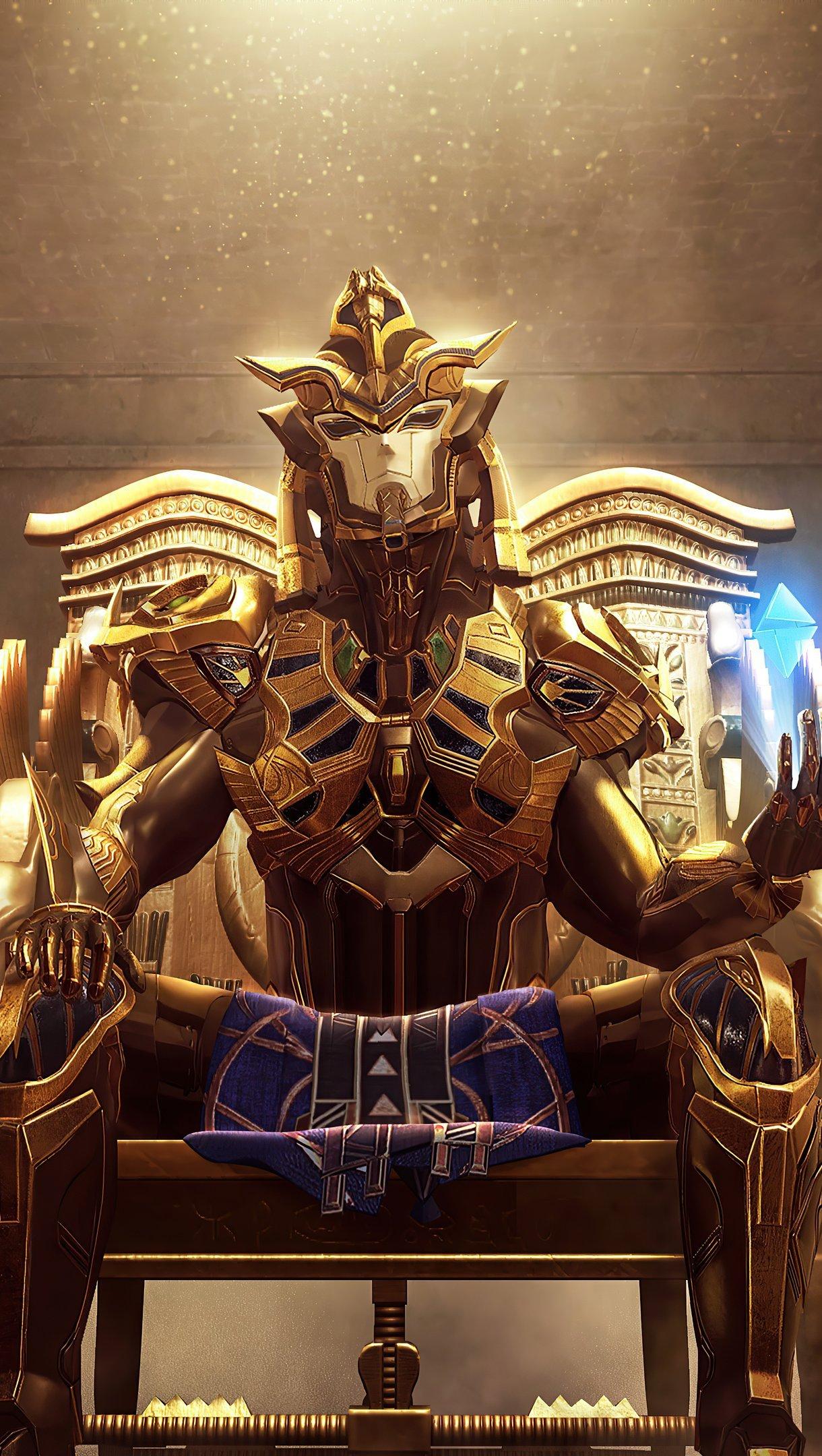 Fondos de pantalla Faraón dorado de PUBG Vertical