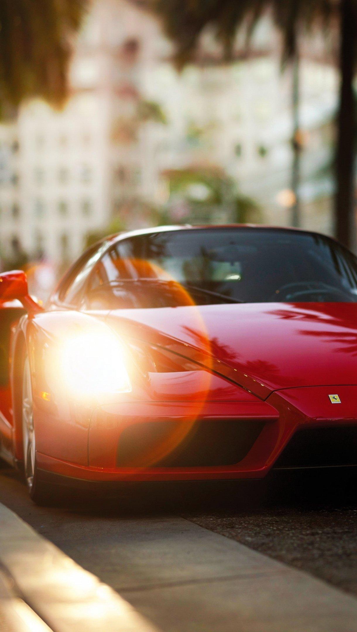 Wallpaper Ferrari Red Enzo Vertical