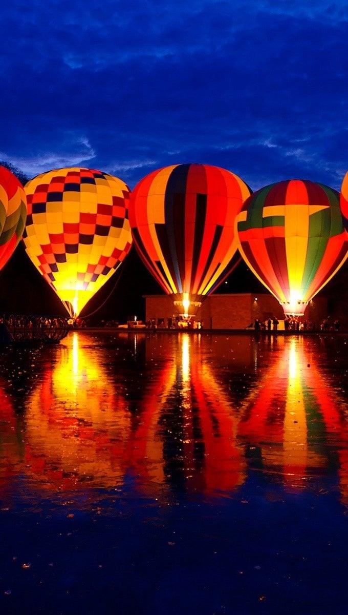Wallpaper Festival of hot air balloons Vertical