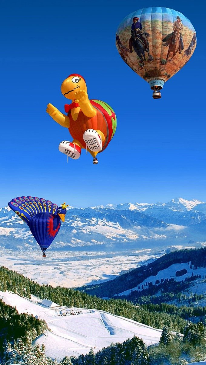 Wallpaper Festival of the aerostatic balloon Vertical