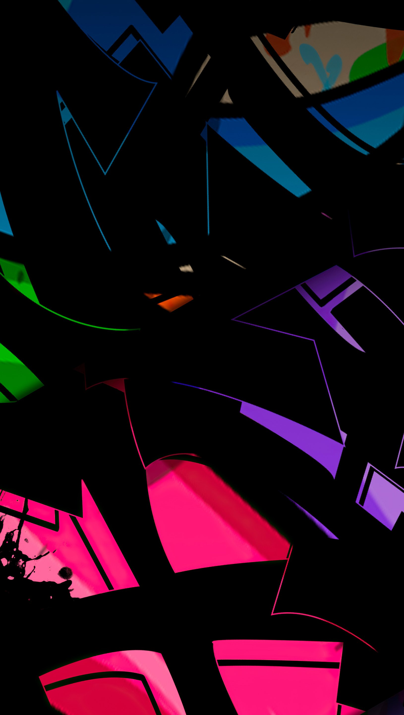Fondos de pantalla Figuras diferentes de colores Vertical