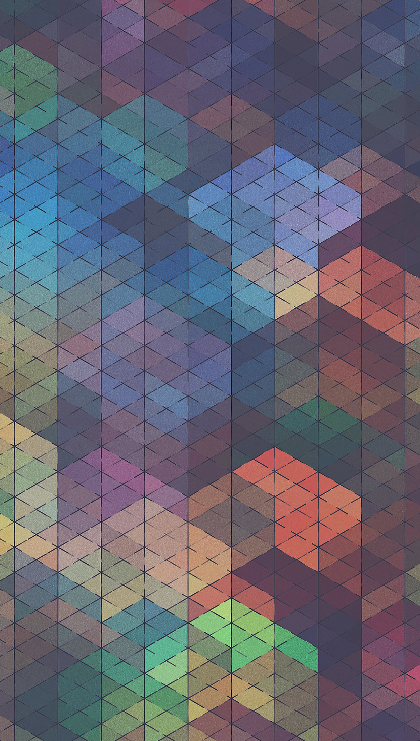 Wallpaper Colorful Geometric shapes  abstract Vertical