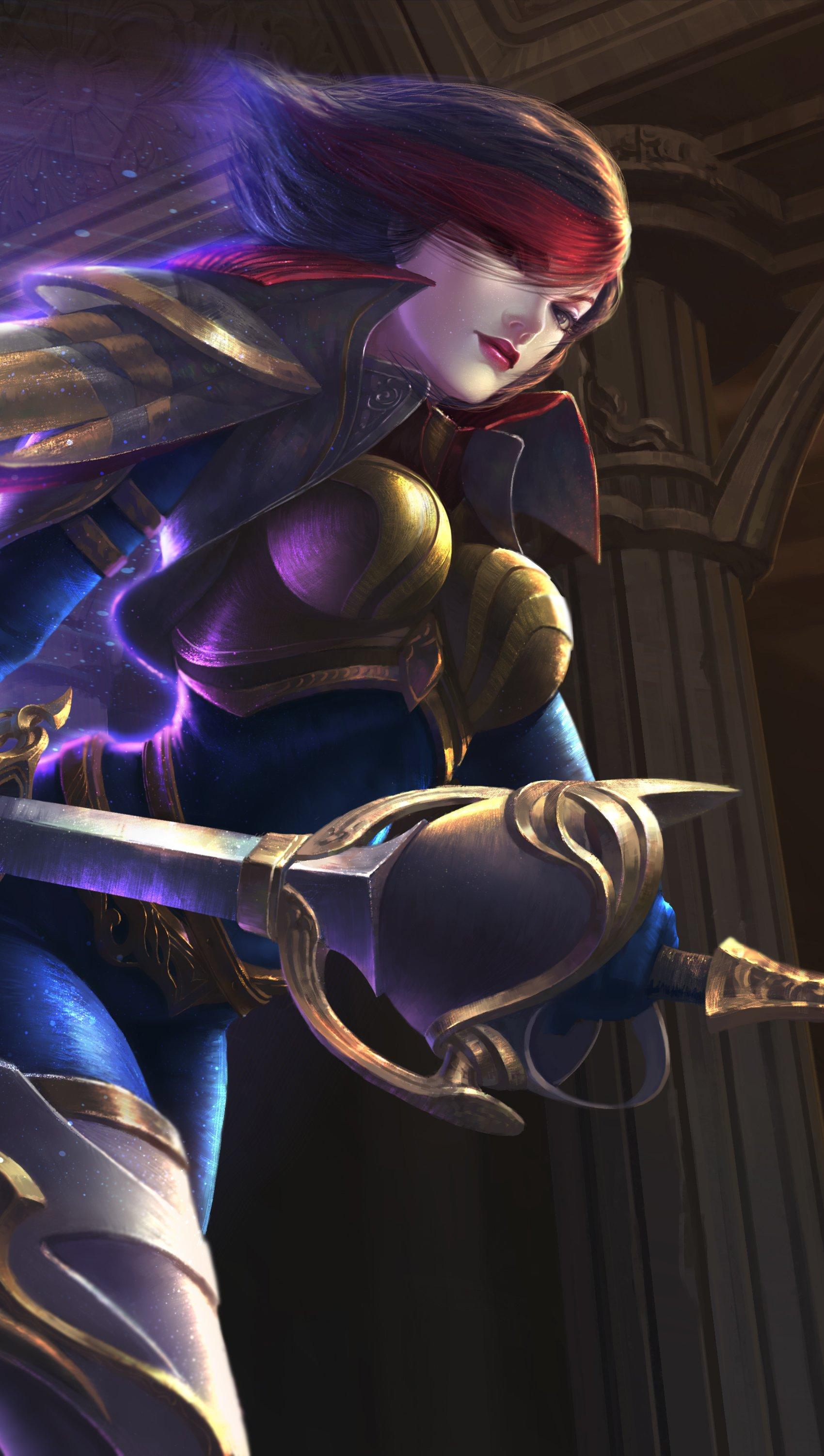Wallpaper Fiora League Of Legends Vertical