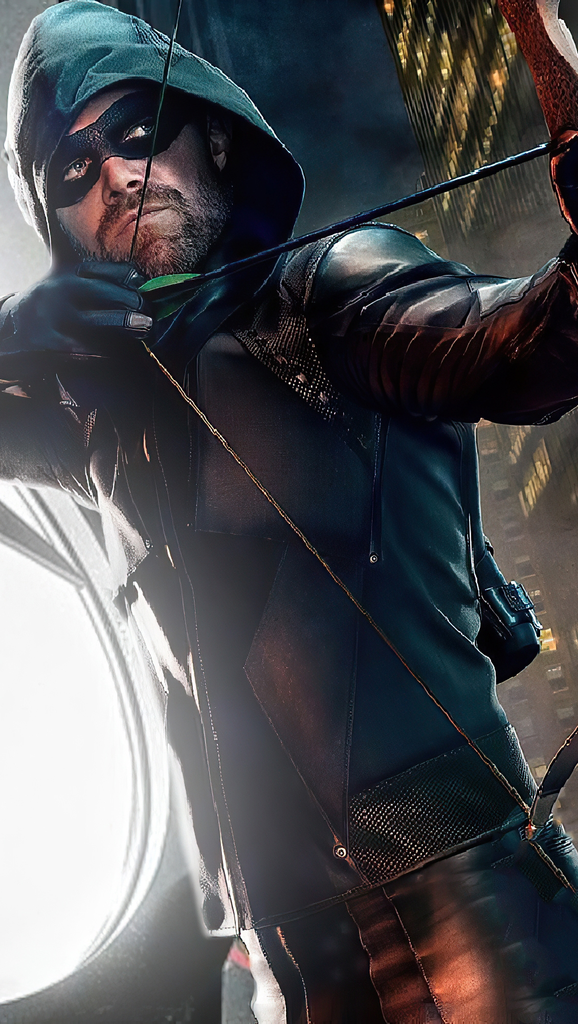 Fondos de pantalla Flecha verde con logo de Batman Vertical