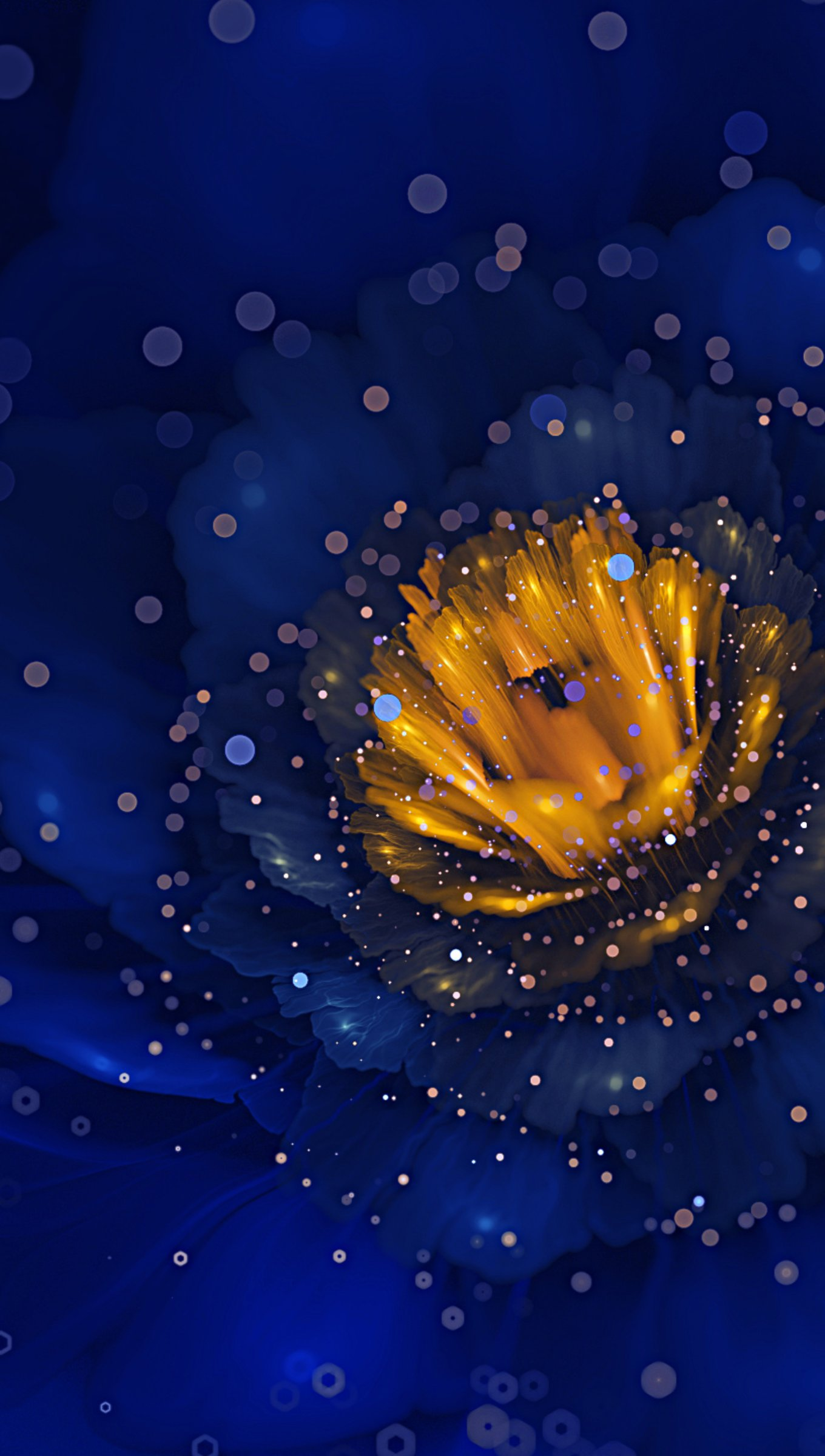 Fondos de pantalla Flor azul digital de cerca Vertical