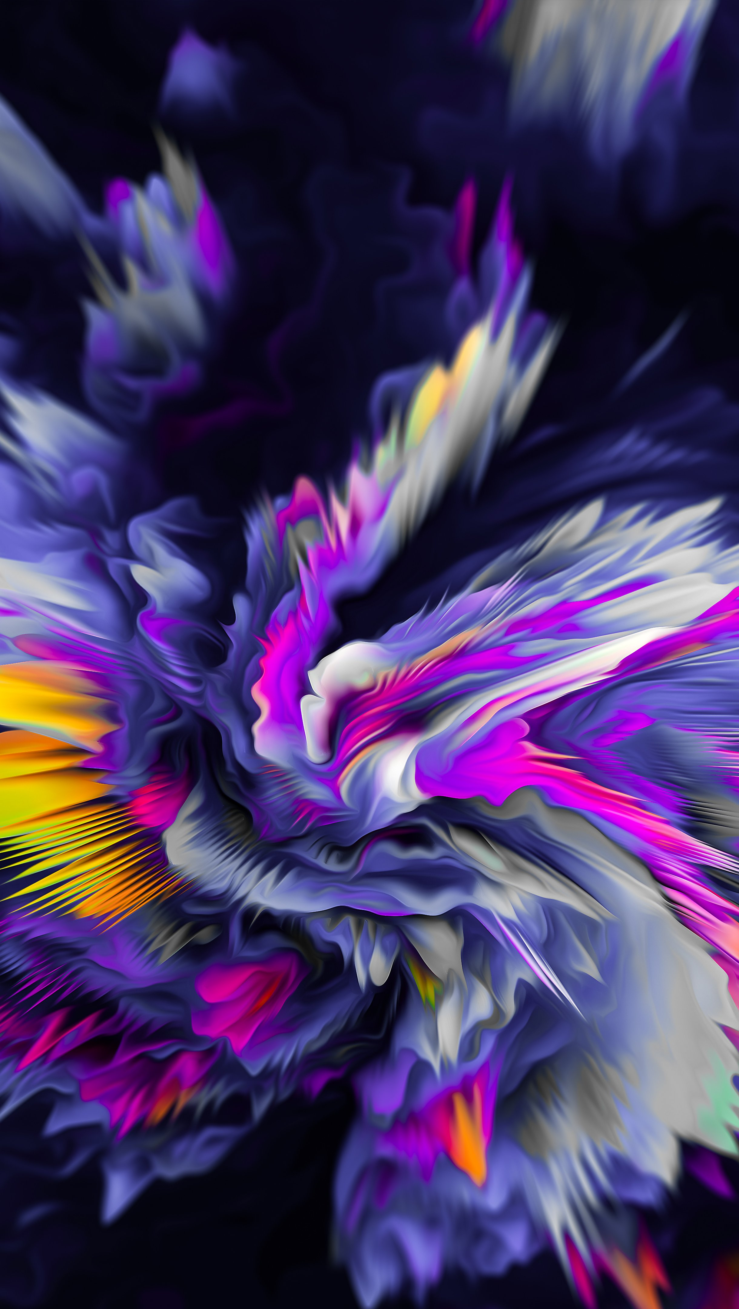 Wallpaper Exploding Flower Abstract Vertical