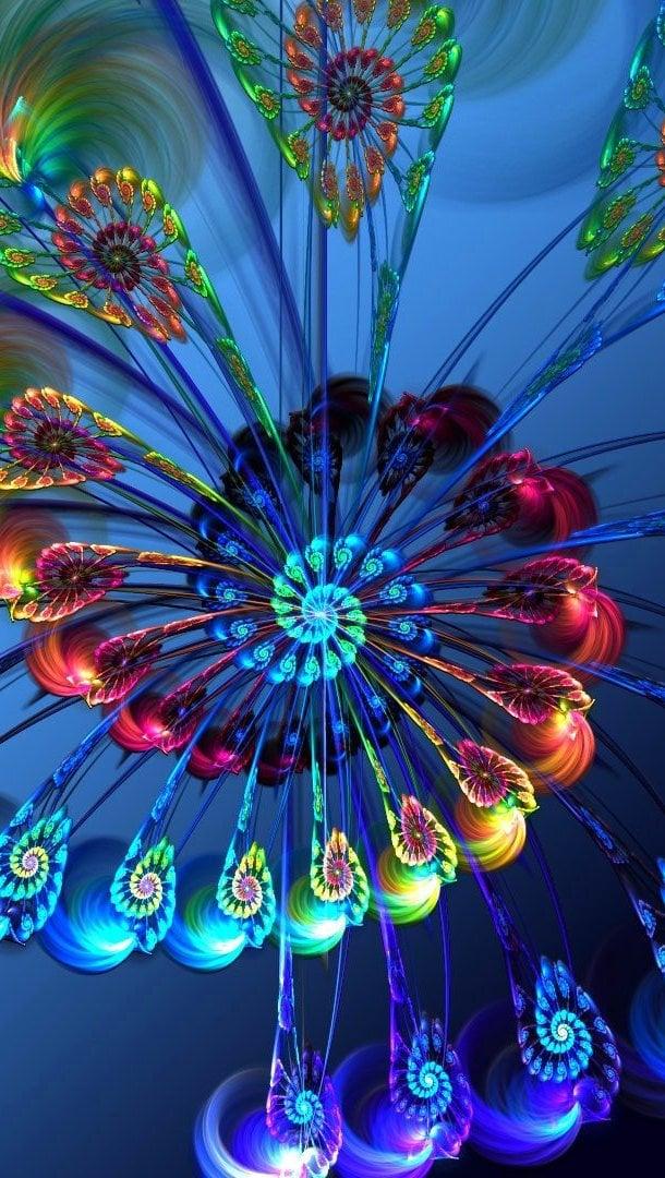 Fondos de pantalla Flores en espiral Arte Vertical