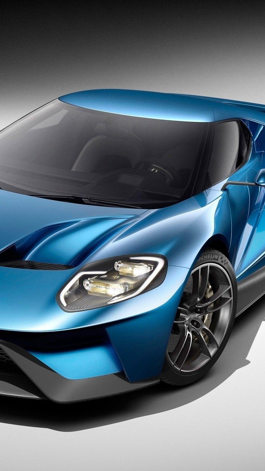 Fondos de pantalla Ford GT azul Vertical
