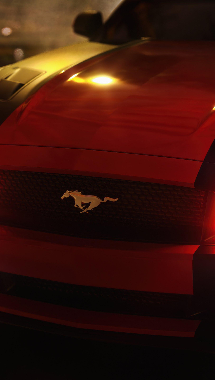 Wallpaper Ford Mustang Vertical