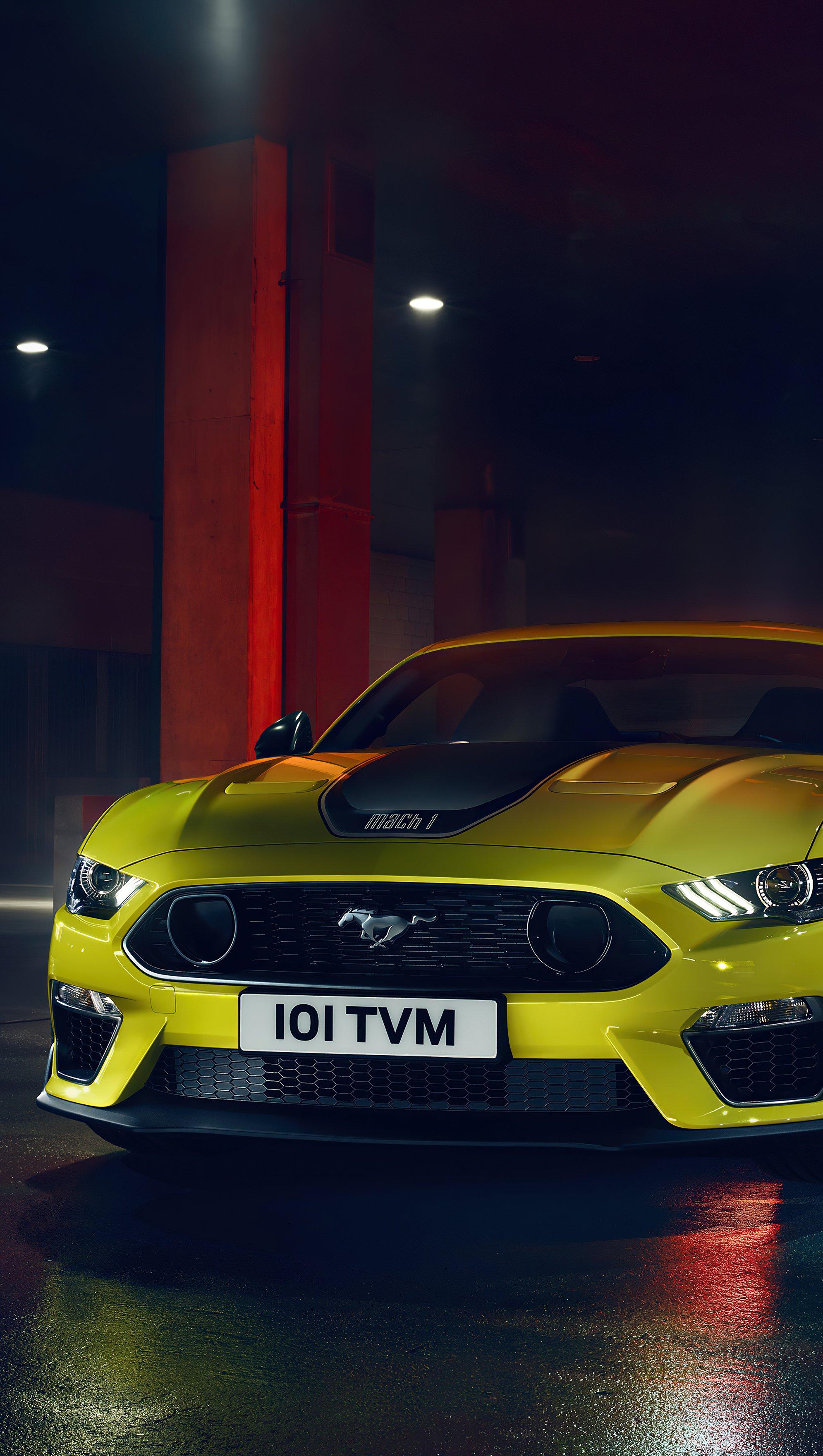 Fondos de pantalla Ford Mustang Amarillo Vertical
