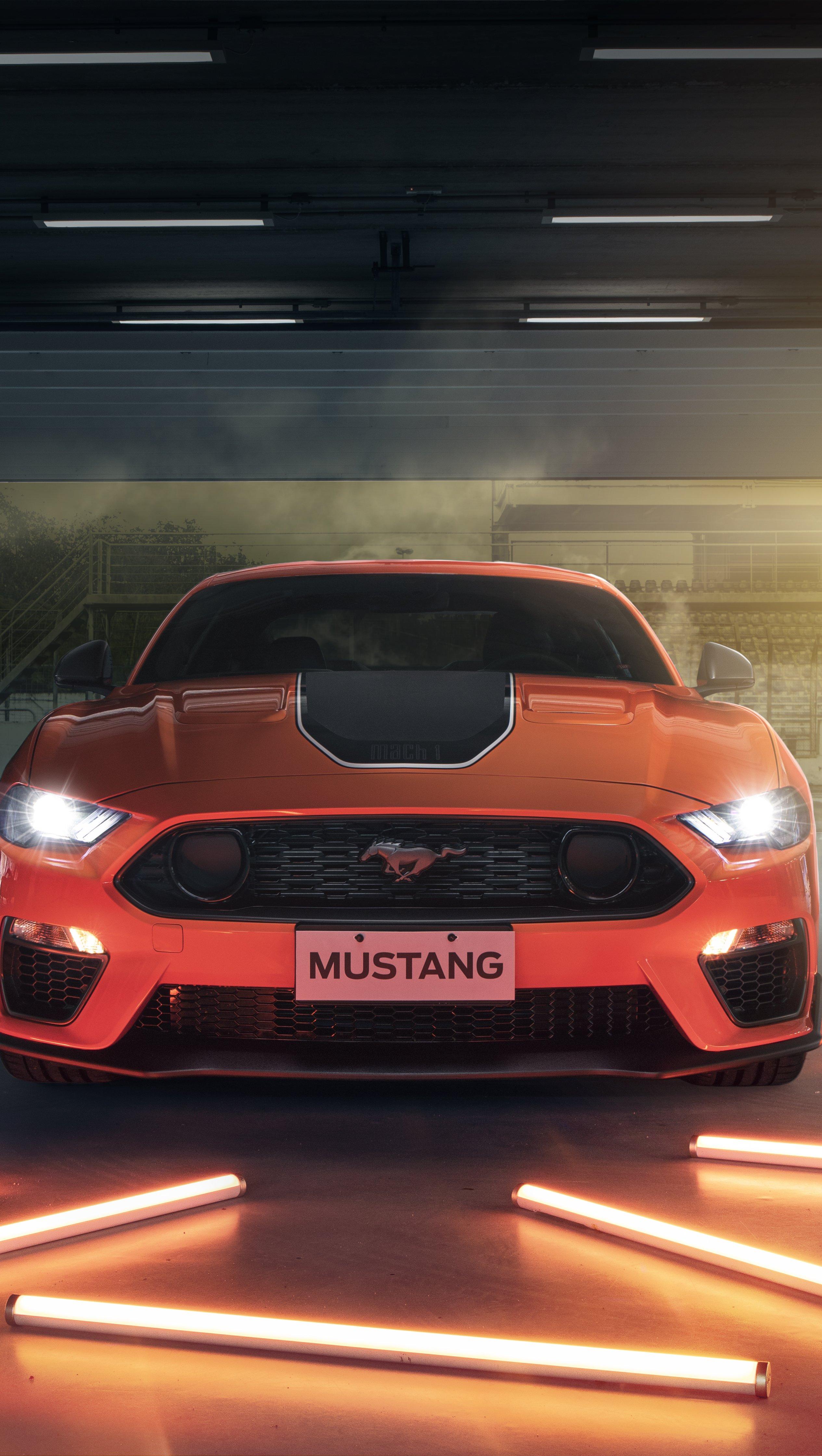 Wallpaper Ford Mustang Mach 2021 Vertical