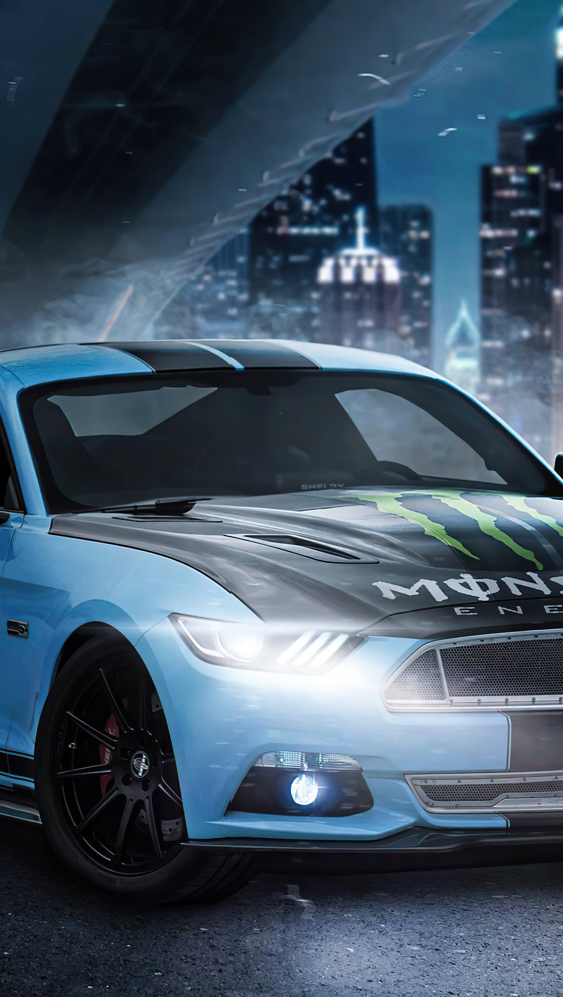Fondos de pantalla Ford Mustang Skyblue en ciudad Vertical