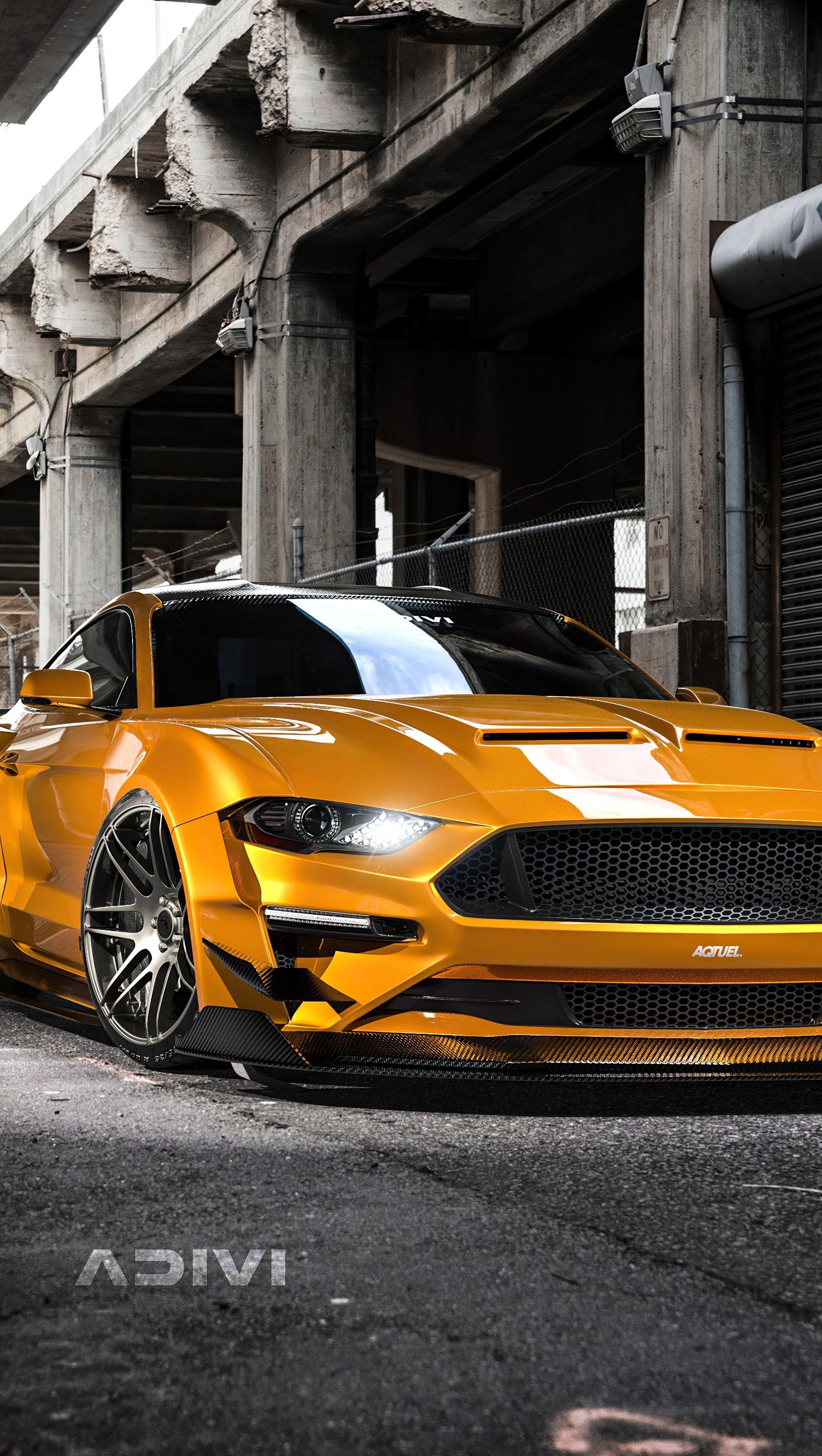 Wallpaper Ford Mustang Wideboy CGI Vertical