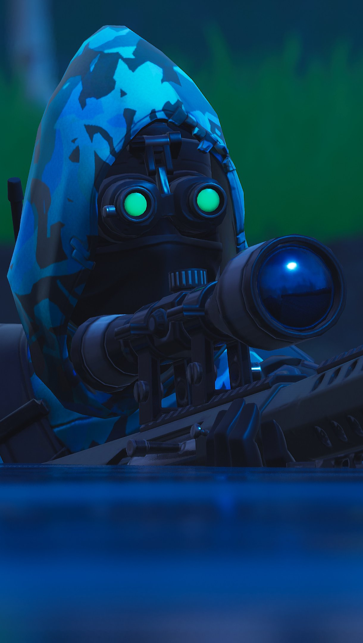 Wallpaper Fortnite Insight with Sniper Rifle Vertical