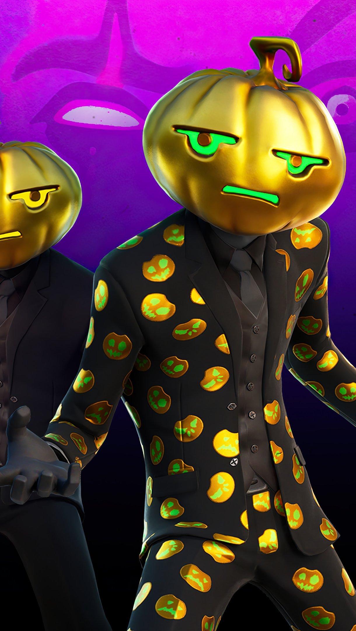 Wallpaper Fortnite Jack Gourdon skin Halloween Vertical