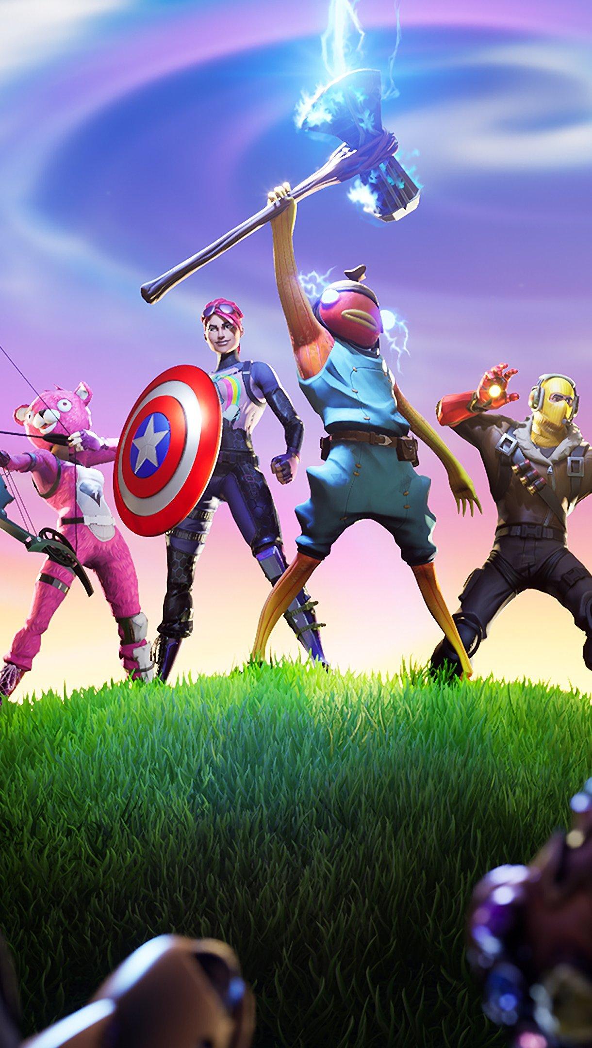 Wallpaper Fortnite X Avengers Stormbreaker Vertical