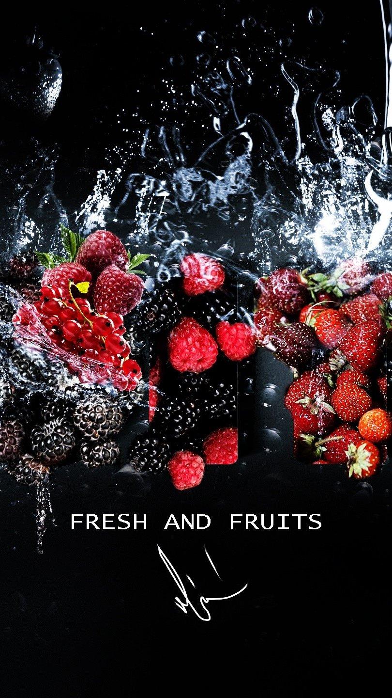 Wallpaper Fresh fruits Vertical