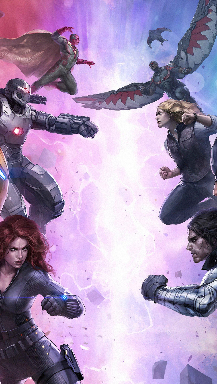 Fondos de pantalla Futura Pelea Marvel Vertical