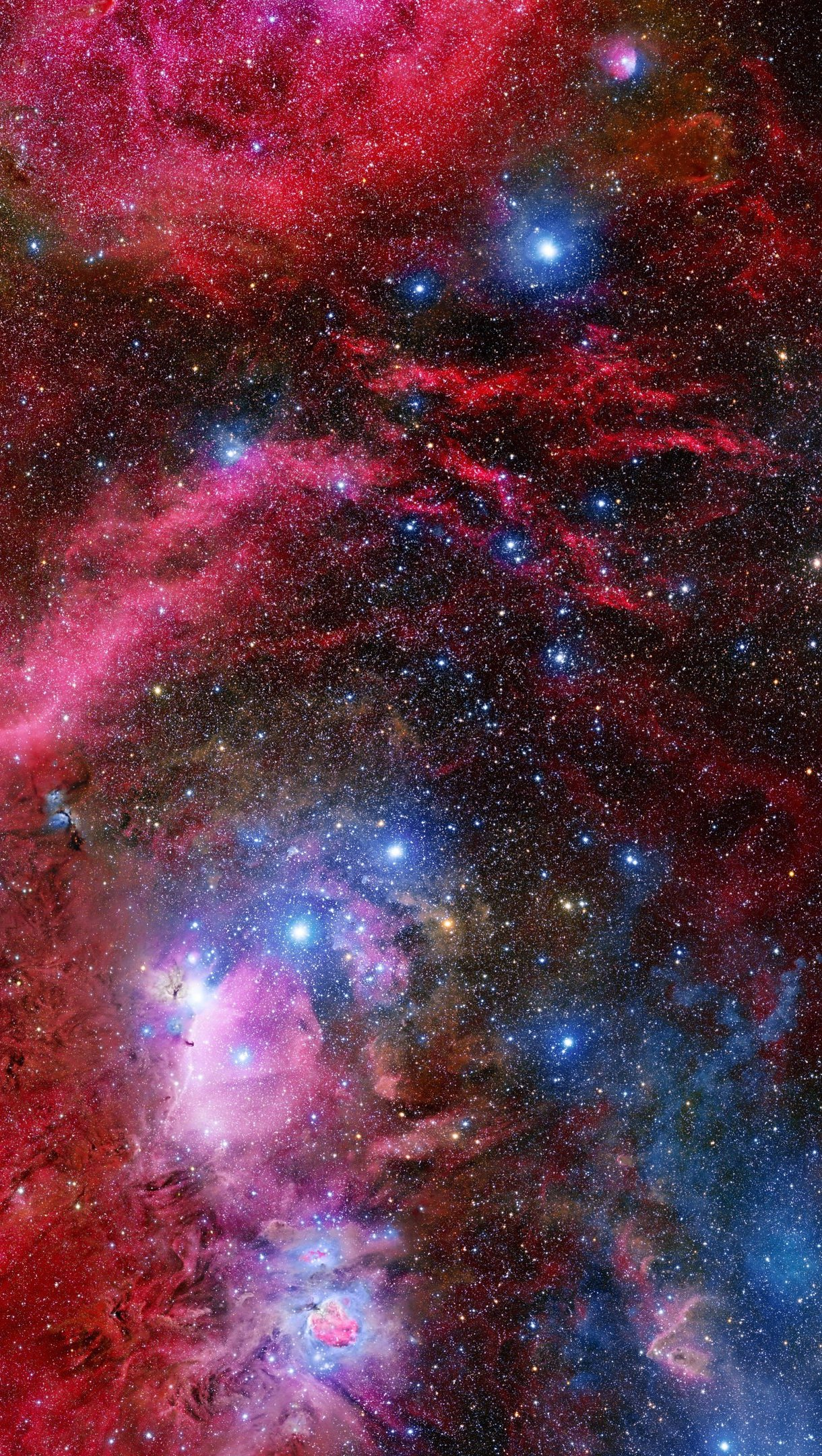 Wallpaper Galaxy and Orion constalation Vertical