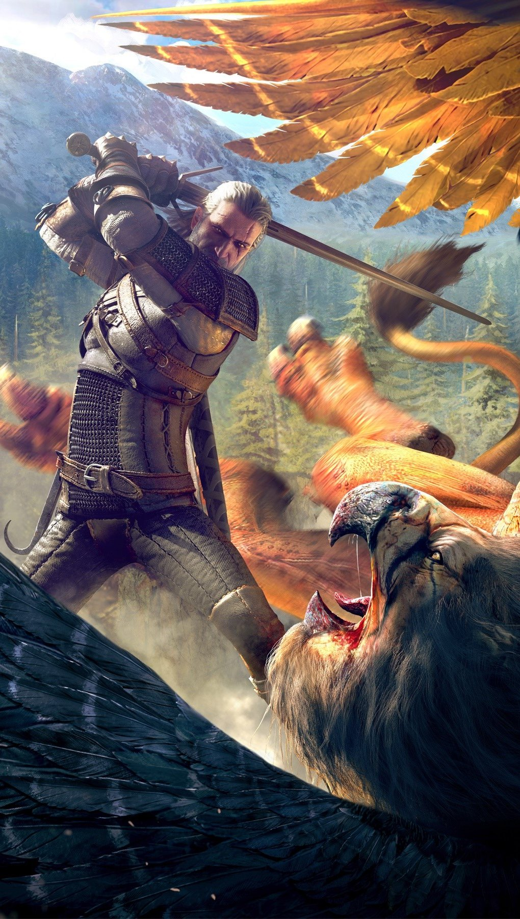 Wallpaper Gameplay of The Witcher 3 Wild Hunt Vertical